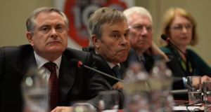 Minister for Public Enterprise and Reform Brendan Howlin in Johnstown House Hotel, Enfield, for the annual Labour 'think-in'. Photograph: Brenda Fitzsimons/The Irish Times