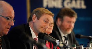 Taoiseach Enda Kenny at  the press conference  concluding the Fine Gael Parliamentary Party conference, in Killenard, Co Laois today. Photograph: Eric Luke / THE IRISH TIMES