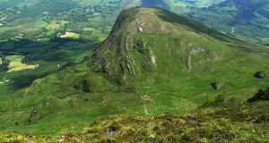 Bird Hill to the north as viewed from Gullaba Hill in Co Kerry.
