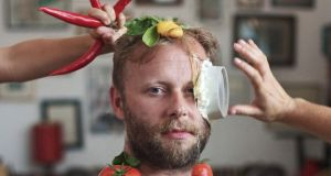 Playing with food: Neil Watkins in 'Dinner and a Show'