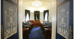 "The Senate chamber – ""By designing a Seanad that reflects the changing shape of Irish society, and not simply Ireland's political class, an upper house worth having could be created."" PHOTOGRAPH: ALAN BETSON"