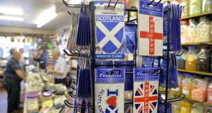 Opinion polls suggest those opposed to independence outnumber those in favour by two to one.  Photograph: Toby Melville/Reuters
