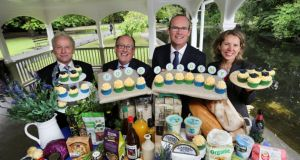 Pictured at the launch today of Food Academy Start are (left to right): Vincent Reynolds, County Enterprise Boards; Martin Kelleher, SuperValu; Minister for Agriculture, Food and the Marine, Simon Coveney TD, and Tara McCarthy, Bord Bia