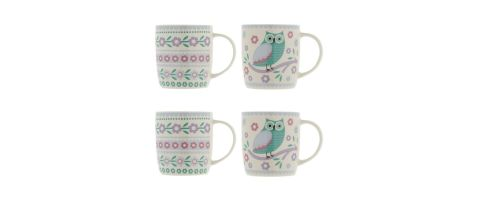 Study is driven by coffee breaks so start the college term on a stylish note with these owl-motif bone-china Sabichi mugs. A set of four is reduced from €39 to €11.90 at all Debenhams stores and online (debenhams.ie).