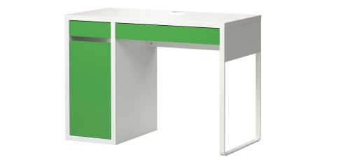 THREE OF THE BEST . . . DESKS: This Ikea (ikea.ie) Micke desk is designed for children but will look playful in any setting. Slim in size (100cm by 75cm by 50cm), it has a cable outlet at the back to tidy away and costs €65.