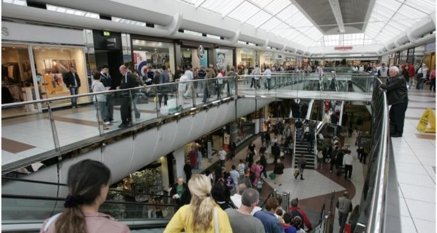 5c5404c37c9d7 Shoppers in Blanchardstown Shopping Centre in west Dublin. Consumer  spending was up 0.7 per cent