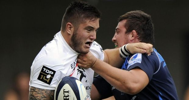 Under the new scrum laws, when Toulouse met Castres Olympique recently, the younger, lighter loosehead prop Cyril Baille (left) of Toulouse got the upper hand against  powerful  tighthead Luc Ducalcon, with Ducalcon dropping his bind and hitting the deck. Photograph: Pascal Guyot/AFP/Getty Images.
