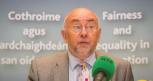 Minister for  Education  Ruairí Quinn TD: does not want to be moved to Brussels.