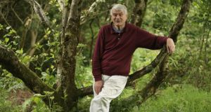 Michael Viney in his garden at Thallabawn. Photograph: Richard Johnson