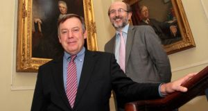 University partnership: ASU president Dr Michael Crow (left) and DCU president Prof Brian MacCraith