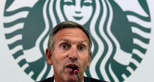 The gun lobby reacted quickly to the public request by Starbucks chief Howard Schultz that customers not carry firearms into their coffee shops. Photograph: Reuters
