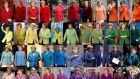 The many different jackets worn by  German chancellor and leader of the CDU  Angela Merkel  for public appearances.   Photograph: Reuters