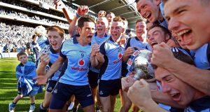 Ya boys! Dublin players celebrate victory over Mayo in the 2013 All Ireland Football Final. Photograph: Eric Luke/The Irish Times