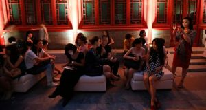 "Champagne soirée: China's newly-rich are often ""cursed"" if they make rich lists. photograph: kim kyung-hoon/reuters"