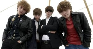 The Strypes (Evan Walsh, Josh McClorey, Ross Farrelly and Pete O'Hanlon) at Electric Picnic, where they left the crowd in a daze. Photograph: Brenda Fitzsimons