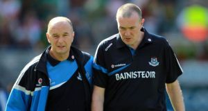 David Hickey with former Dublin manager Pat Gilroy. Photograph: Donall Farmer/Inpho