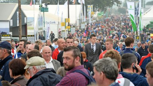 A section of the major attendence at  the 2013 National Ploughing Championships at Ratheniska, Stradbally, Co. Laois. Photograph: Eric Luke/The Irish Times