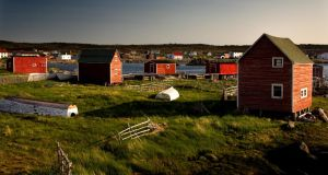 The 'straight Irish' town of Tilting, on Fogo island. Photograph: Don Lane