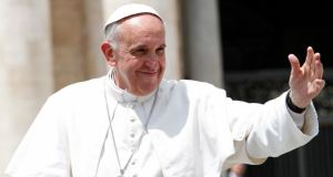 Pope Francis: spoke movingly about his parents and his grandmother. Photograph: Reuters