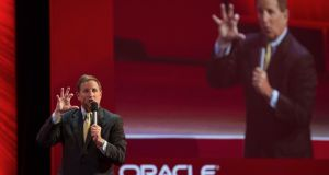 Mark Hurd, co-president of Oracle, said the company's overall software business grew 8 per cent and that  the company was looking forward to its traditionally good second-quarter sales results.  Photograph: Bloomberg
