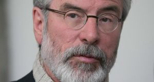 Gerry Adams: feeling a little queasy. Photograph: Gareth Chaney/Collins