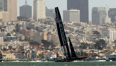 To San Francisco for the sailing. Photograph: Robert Galbraith/Reuters