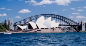 'On his first job, Peter Rice  talked himself into being sent to Australia to help build the roof of the Sydney Opera House, arguably the 20th century's greatest building.' Photograph: Getty Images