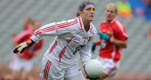 Cork's Elaine Harte has a chance to win her eighth All-Ireland winning medal on Sunday. Photograph: Morgan Treacy/Inpho