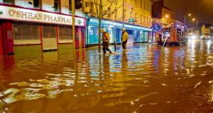 Emergencey services dealing with floods in Blackpool, Cork, this year