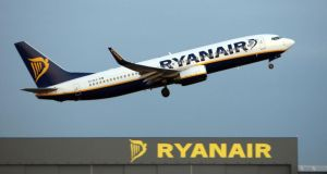 Ryanair said it would provide passengers, business travellers and corporate travel departments with more ways to book flights. Photograph: Chris Radburn/PA Wire