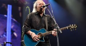 Barry Gibb's set list  included old favourites such as Night Fever and Stayin' Alive. Photograph: Alan Betson / The Irish Times