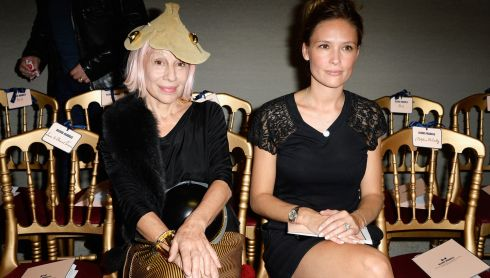 Marie Beltrami and  Lilou Fogli attend the Alexis Mabille show as part of the Paris Fashion Week Womenswear Spring/Summer 2014 at Docks en Seine. Photograph: Pascal Le Segretain/Getty Images