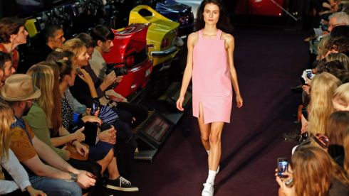 A model presents a creation by French designer Simon Porte Jacquemus.  Photograph: Charles Platiau/Reuters