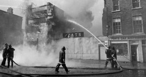 In March 1972 eight people, seven of them young girls, died in a fire at Noyek's, timber merchants.  Photograph: Dermot Barry