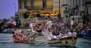 Boat jousting in the town of Sète
