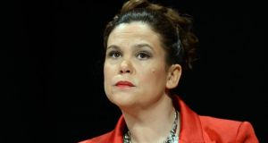 Sinn Féin deputy leader Mary Lou McDonald claimed the Central Bank governor chose to 'sit on his hands'. Photograph: Brenda Fitzsimons/The Irish Times