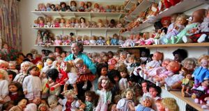 Mary Hickey and her doll collection at her home in Ashbourne Co Meath. Photograph: Marc O'Sullivan