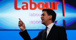 Ed Miliband: believes the centre has moved to the left. Photograph: Stefan Wermuth/Reuters