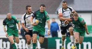 Connacht's Robbie Henshaw in action against Zebre earlier this month. Photograph: James Crombie/Inpho