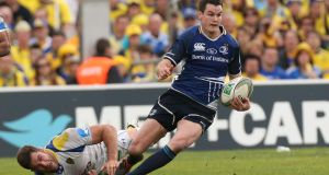 Jonathan Sexton in action for Leinster, the team he supported since he was a boy. Photograph: Billy Stickland/Inpho