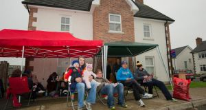 People have been queuing to secure cheap housing in Knock Carrick, Annyalla, Co. Monaghan. Photograph: Philip Fitzpatrick