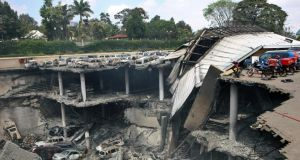 Massive damage in the wake of the assault on  the Westgate Mall in Nairobi, Kenya. Photograph: New York Times