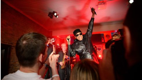 The scene in Dublin last night  as legendary soul singer  Bobby Womack perfromed live in the Dakota Bar on South William Street, Dublin. Photograph: Bryan O'Brien/Irish Times