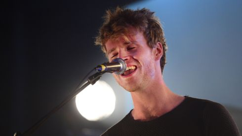 Steve garrigan (singer) and band Kodaline at the Hop Store in Dublin. Photograph: Bryan O'Brien/Irish Times