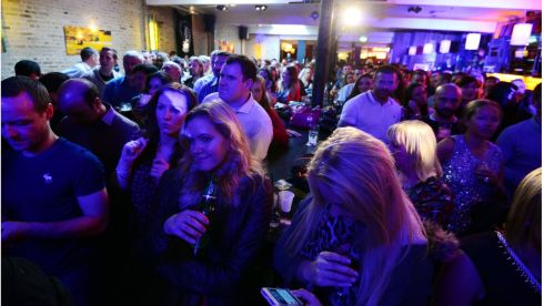 Music fans watch  Bobby Womack perfrom at the Dakota Bar on South William Street. Photograph: Bryan O'Brien/Irish Times