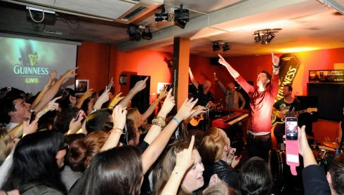 Danny O'Donoghue from The Script performs at The Ivy House. Photograph: Dave Meehan/Getty Images