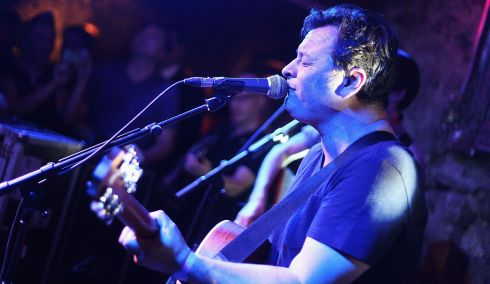 James Dean Bradfield of the Manic Street Preachers performs as part of the fifth annual Arthur's Day celebrations in Galway. Photograph: Ken Coleman/Getty Images