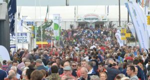 Thousands  at the National Ploughing Championships in Ratheniska, Stradbally, Co Laois,  on Wednesday Photograph: Barbara Lindberg
