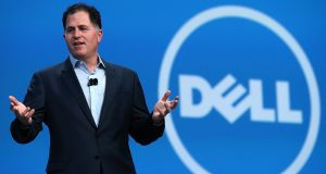 Dell chief executive  Michael Dell delivers a keynote address during the 2013 Oracle Open World conference in San Francisco, California. Photograph:  Justin Sullivan/Getty Images