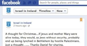Controversial message: the Jesus and Mary comment on Facebook